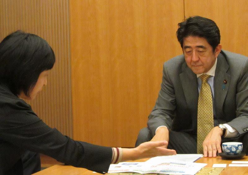 安倍総理と田澤由利の会談